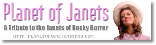 PLANET OF JANETS logo - A tribute to the Janets of Rocky Horror